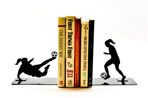 Soccer Player Bookends - Knob Creek Metal Arts