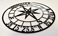 Personalized Round Nautical Compass with City/State & GPS Coordinates - Knob Creek Metal Arts