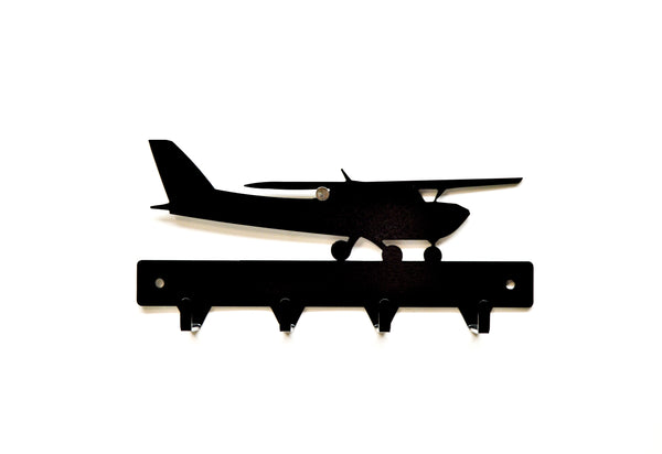Airplane Metal Art Key Rack - Knob Creek Metal Arts