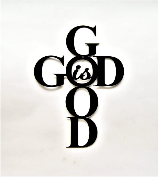 God Is Good Cross Wall Art - Knob Creek Metal Arts