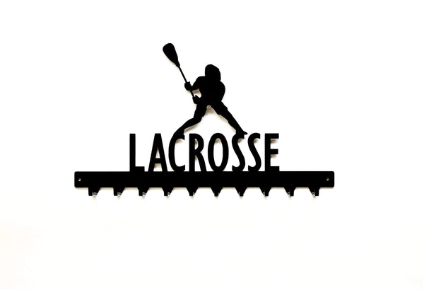 Lacrosse Medals Rack- 10 Hook - Knob Creek Metal Arts