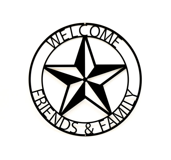 Welcome Friends & Family Wall Art - Knob Creek Metal Arts
