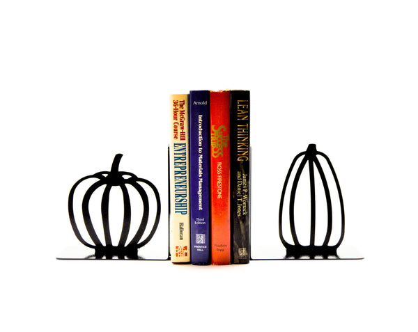 Pumpkin Metal Art Bookends - Knob Creek Metal Arts