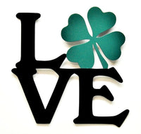 Love Shamrock Wall Art - Green - Knob Creek Metal Arts