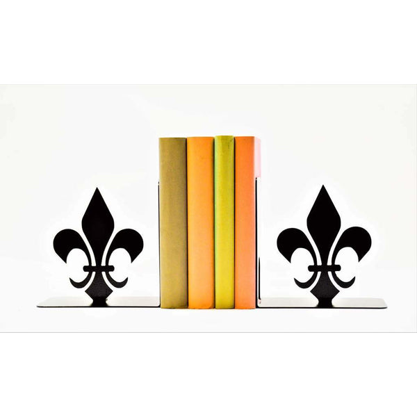 Fleur De Lis Metal Art Bookends - Knob Creek Metal Arts