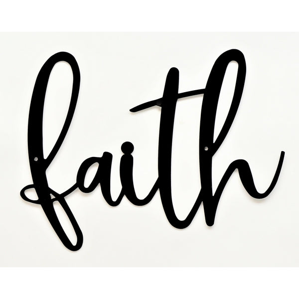 Faith Farmhouse Wall Art - Knob Creek Metal Arts