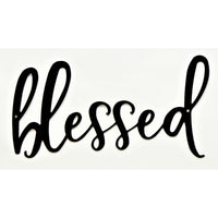 Blessed Farmhouse Wall Art - Knob Creek Metal Arts