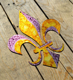"Custom Painted 12"" Fleur De Lis Wall Art - Knob Creek Metal Arts"