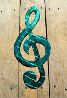 "Custom Painted 18"" Treble Clef Wall Art - Knob Creek Metal Arts"