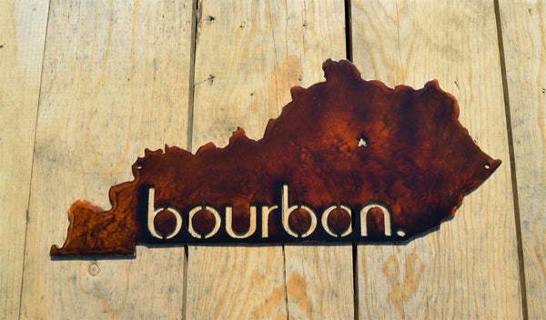 Custom Painted Kentucky Bourbon Wall Art - Knob Creek Metal Arts