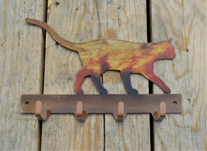 Custom Candy Painted Cat Key Rack - Knob Creek Metal Arts