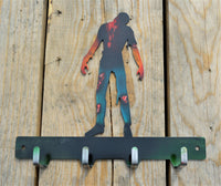 Custom Candy Painted Zombie Key Rack - Knob Creek Metal Arts