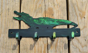 Custom Candy Painted Alligator Key Rack - Knob Creek Metal Arts