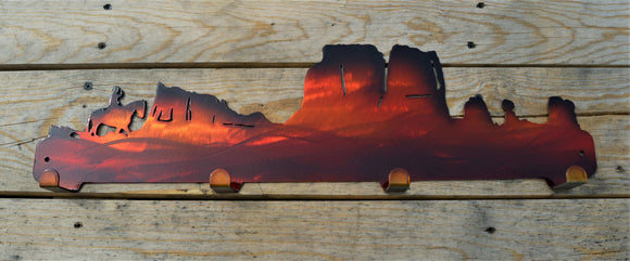 Custom Candy Painted Western Coat Rack - Knob Creek Metal Arts