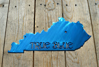 Custom Painted Kentucky True Blue Wall Art - Knob Creek Metal Arts