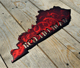 Custom Painted Kentucky Red Till Dead Wall Art - Knob Creek Metal Arts