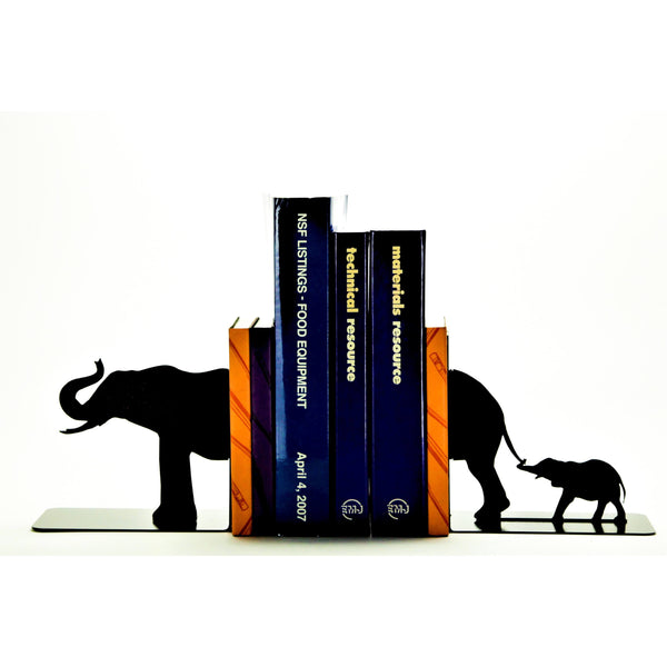 Elephant Family Bookends - Knob Creek Metal Arts