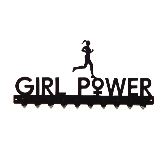 Girl Power Medals Rack- 10 Hook - Knob Creek Metal Arts