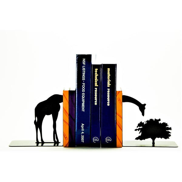 Grazing Giraffe Bookends - Knob Creek Metal Arts