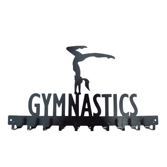 Gymnastics Medals Rack- 10 Hook - Knob Creek Metal Arts