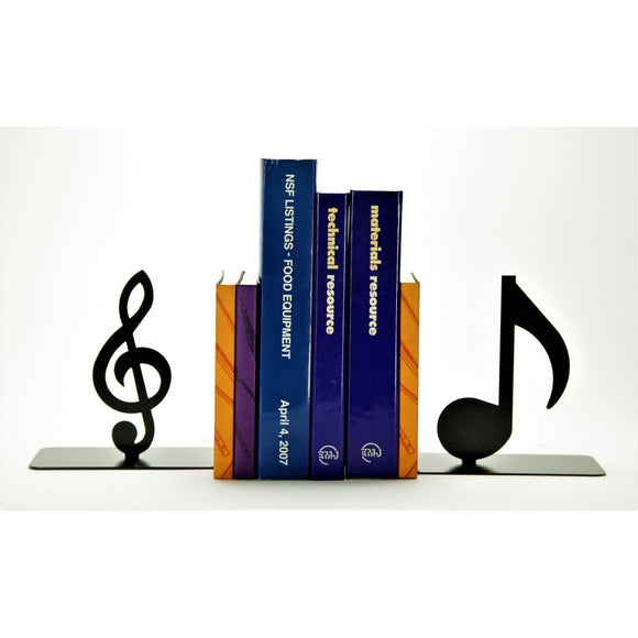 Music Note Bookends - Knob Creek Metal Arts