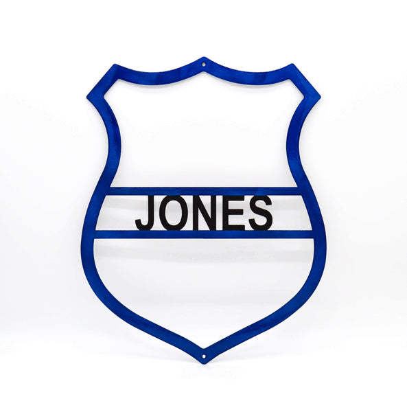 Personalized Police Badge - Police Wall Art - Knob Creek Metal Arts