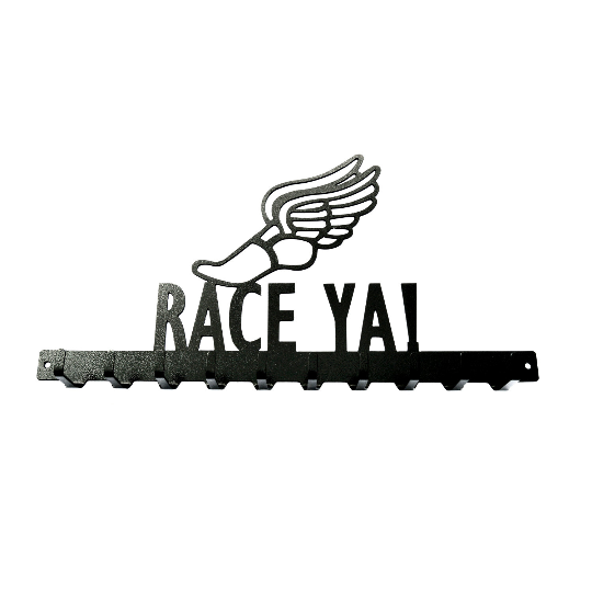 Race Ya! Medals Rack- 10 Hook - Knob Creek Metal Arts