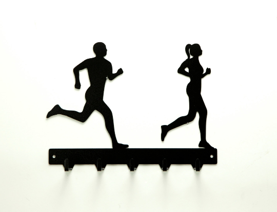 Running Couple Medals Rack - Knob Creek Metal Arts