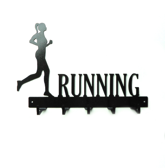 Running Woman Medals Rack - Knob Creek Metal Arts