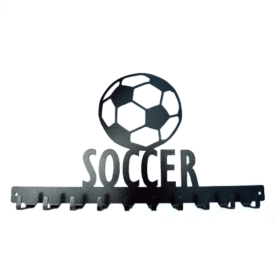 Soccer Medals Rack- 10 Hook - Knob Creek Metal Arts