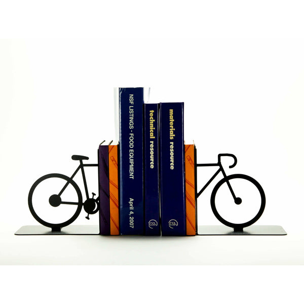 Split Bicycle Bookends - Knob Creek Metal Arts
