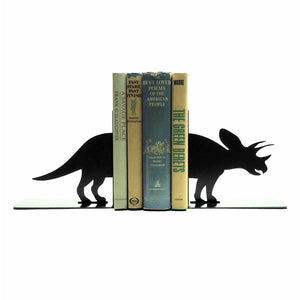 Triceratops Bookends - Knob Creek Metal Arts
