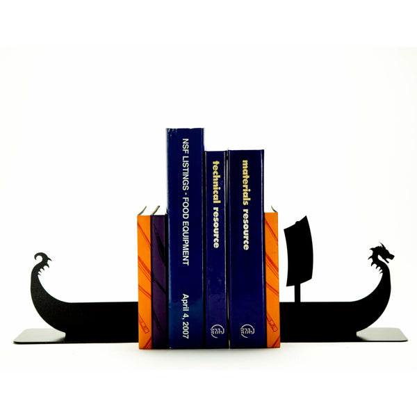 Viking Ship Bookends - Knob Creek Metal Arts