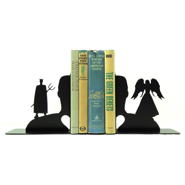 Angel & Devil Bookends - Knob Creek Metal Arts
