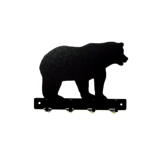 Bear Metal Art Key Rack - Knob Creek Metal Arts