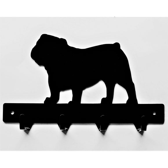 English Bulldog Leash Rack - Knob Creek Metal Arts