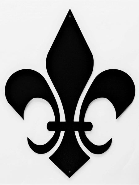 Fleur De Lis Metal Wall Art - Knob Creek Metal Arts
