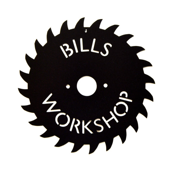Personalized Saw Blade Sign - Knob Creek Metal Arts