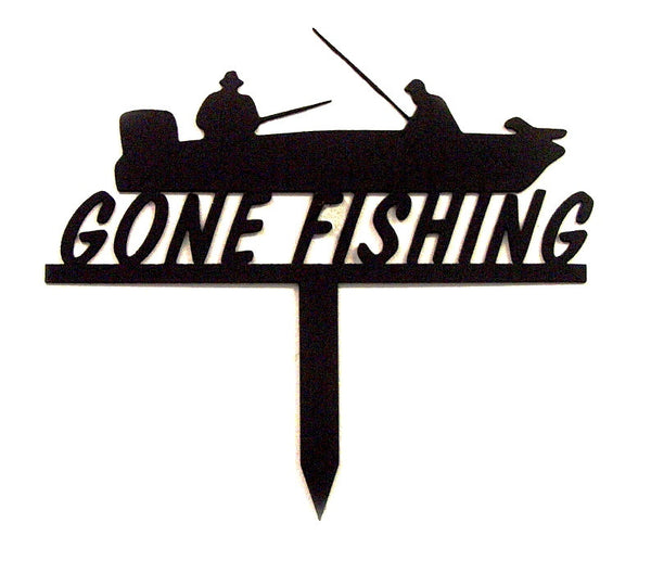 Gone Fishing & Boat Yard Stake - Knob Creek Metal Arts