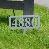 Rectangular Address Stake - Knob Creek Metal Arts