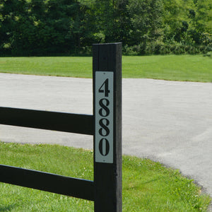 Vertical Address Plaque - Knob Creek Metal Arts