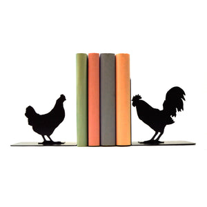 Rooster & Hen Bookends - Knob Creek Metal Arts
