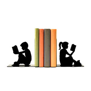 Boy & Girl Reading Bookends - Knob Creek Metal Arts