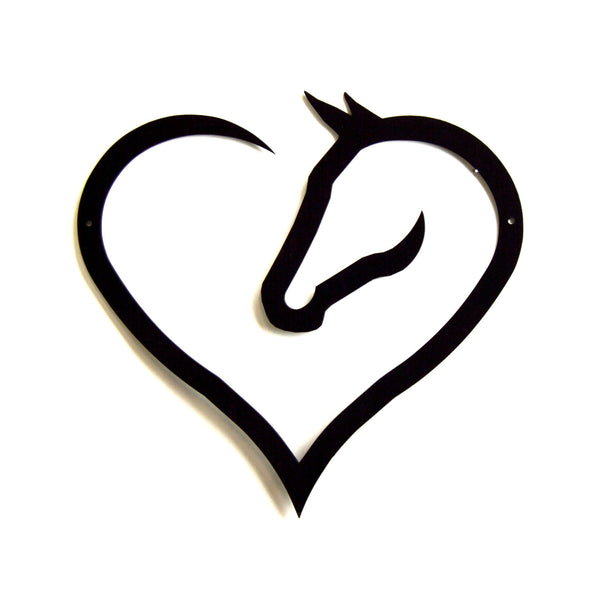 Horse Heart Wall Art - Knob Creek Metal Arts