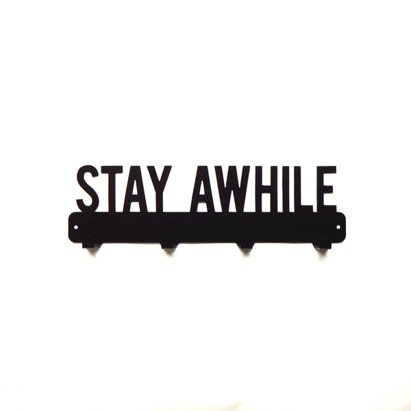 Stay Awhile Coat Rack - Knob Creek Metal Arts