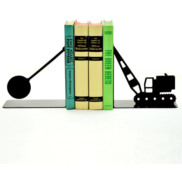 Wrecking Ball Metal Art Bookends - Knob Creek Metal Arts