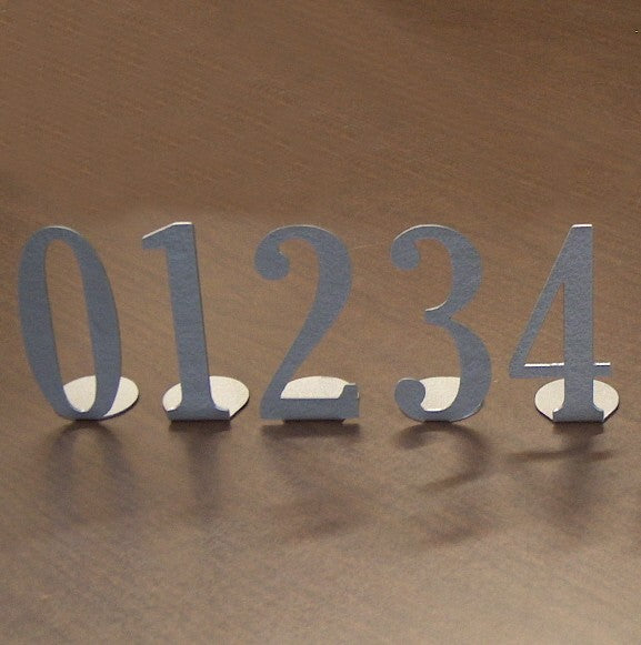 Metal Table Numbers- Single Digit - Knob Creek Metal Arts