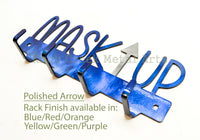 Mask Up Rack - Limited Edition - Custom Painted - Black - Polished - Multiple Fonts