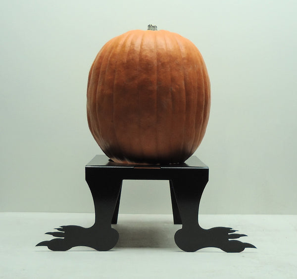 Monster Feet Pumpkin JackOLantern Stand - Knob Creek Metal Arts