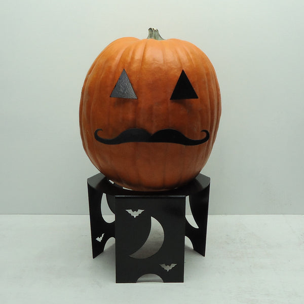 Pumpkin JackOLantern Metal Art Mustache - Knob Creek Metal Arts